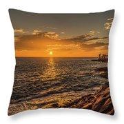 Photo's Of Tenerife - La Caleta Sunset Throw Pillow