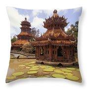 Phra Kaew Pavillion Throw Pillow