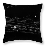 Pi-mesons, Bubble Chamber Event Throw Pillow