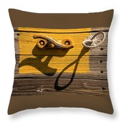 Pi Theta Shadows - Dock Cleat And Rope Throw Pillow