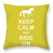 Piaffe And Keep Calm Throw Pillow