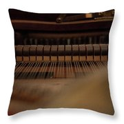 Piano Guts Throw Pillow