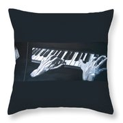 Piano Hands Plus Metronome Throw Pillow