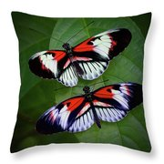 Piano Key Butterfly's Throw Pillow