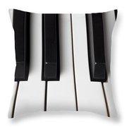 Piano Keys Close Up Throw Pillow