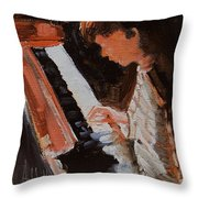 Piano Lesson Throw Pillow