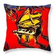 Piano Music Jazz Throw Pillow