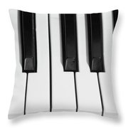 Piano Octave  Bw Throw Pillow