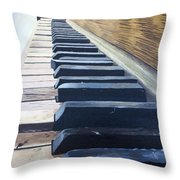 Piano Perspective Throw Pillow