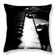 Piano Player Throw Pillow by Scott Sawyer