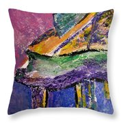 Piano Purple - Cropped Throw Pillow