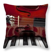 Piano Reflections Throw Pillow