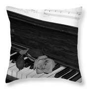 Piano Rose Throw Pillow