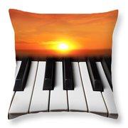 Piano Sunset Throw Pillow