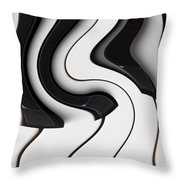 Piano Surrealism  Throw Pillow by Garry Gay