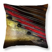 Piano Wire II Throw Pillow