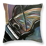Piano With High Heel Throw Pillow