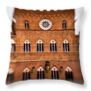 Piazza Del Campo Tuscany Italy Throw Pillow