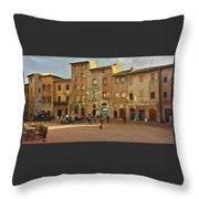 Piazza Della Cisterna Throw Pillow