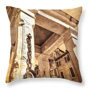 Piazza Erbe Throw Pillow