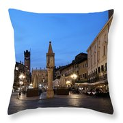 Piazza Erbe Verona Throw Pillow