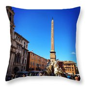 Piazza Navona 2 Throw Pillow