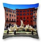 Piazza Navona 4 Throw Pillow