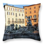Piazza Navona Rome Throw Pillow