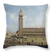 Piazza San Marco Venice  Throw Pillow by Canaletto