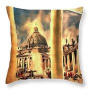Piazza San Pietro In Roma Italy Throw Pillow