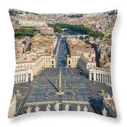Piazza San Pietro Throw Pillow