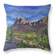 Picacho Peak Throw Pillow