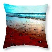 Picasso Beach Throw Pillow by Jo Ann