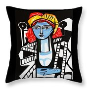 Picasso By Nora  Film Star Throw Pillow