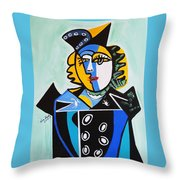Picasso By Nora  The Queen Throw Pillow