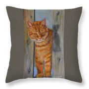 Picasso Coming Through Fence Throw Pillow