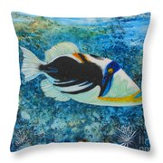 Picasso Fish Throw Pillow