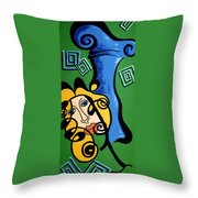 Picasso Influence With A Greek Twist Throw Pillow