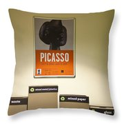Picasso Poster Throw Pillow