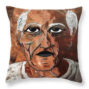 Picasso The Bull In Winter Throw Pillow