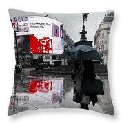 Piccadilly In The Rain Throw Pillow