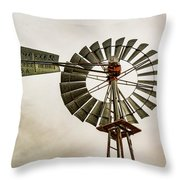 Piceance Basin Windmill Throw Pillow