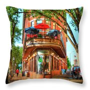 Pickel Barrel 2 Chattanooga Tennessee Cityscape Art Throw Pillow