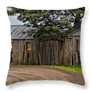 Pickers Huts Throw Pillow