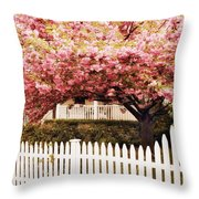 Picket Fence Charm Throw Pillow
