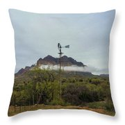 Picket Post Windmill Throw Pillow