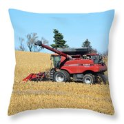 Picking Corn Throw Pillow