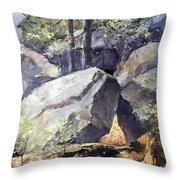 Pickle Springs State Park Throw Pillow