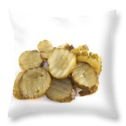 Pickled Cucumber Slices Throw Pillow
