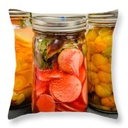 Pickled Veggies Throw Pillow